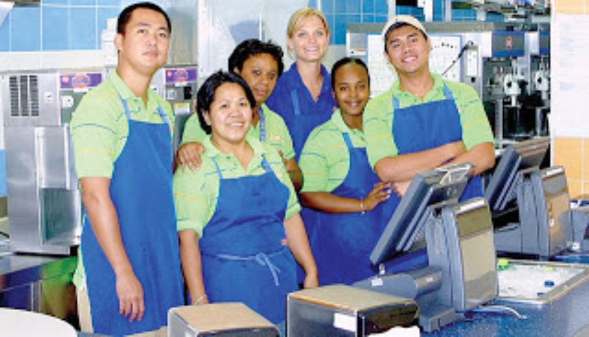 Happy employees at Dairy Queen