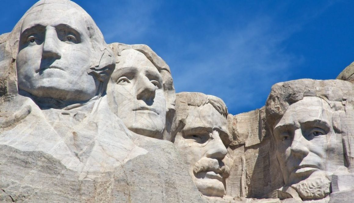 Mount Rushmore - four leaders in history